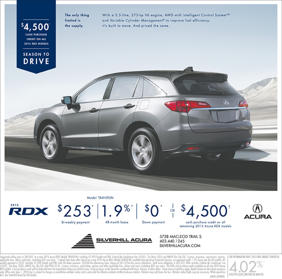 Preowned Acura Rdx: Current Vehicle Ads, Specials & Promotions In Calgary