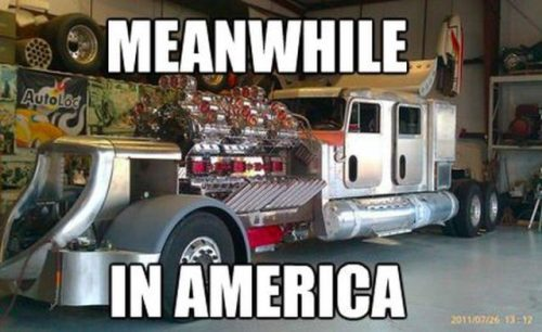 meanwhile in america truck meme