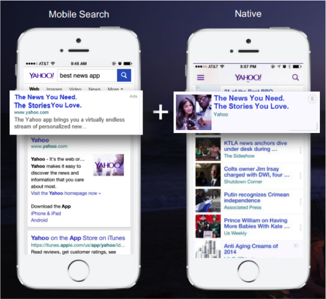 Yahoo Gemini Native vs Mobile Search