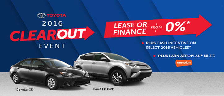 2016 Toyota Clearout Event