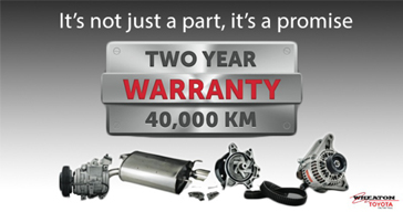 Two Years Warranty at Toyota on the Trail