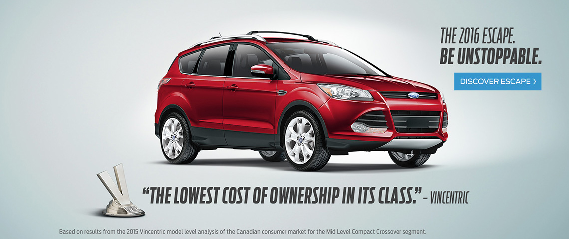 2016 Ford Escape - Be Unstoppable - Windsor Ford, Grand Prairie, AB