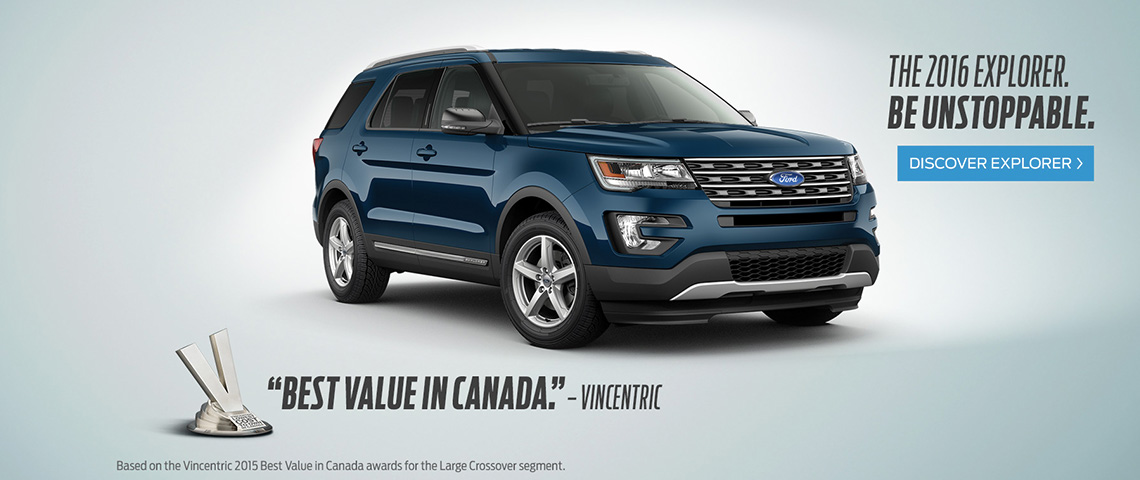 2016 Ford Explorer - Be Unstoppable - Windsor Ford, Grand Prairie, AB