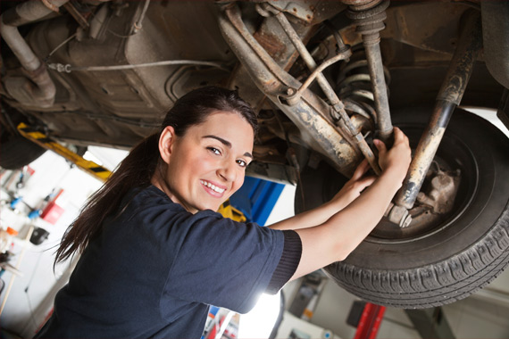 Female service technician at Western GMC