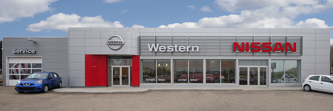 Western Nissan Dealership Exterior in Moose Jaw, Sask.