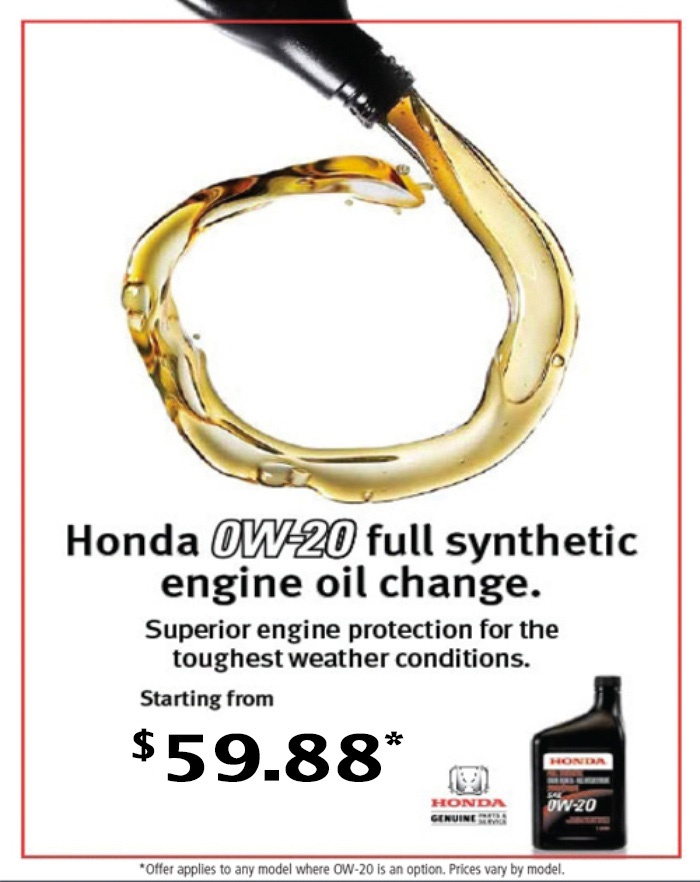 Oil Change Special at Wheaton Honda