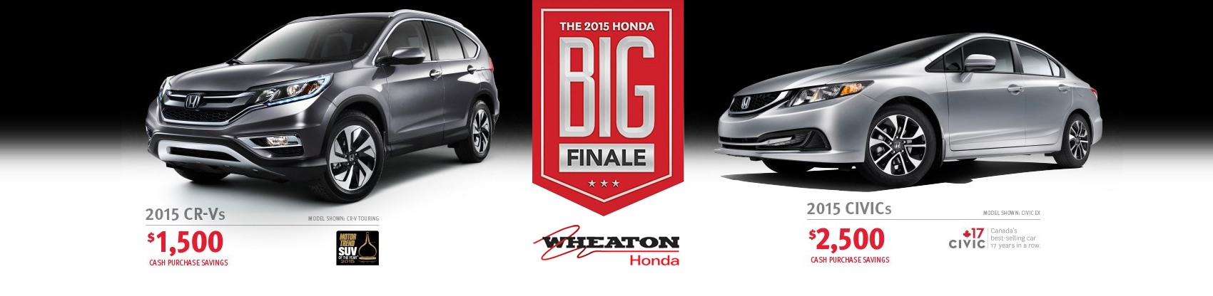 Wheaton Honda 2015 model blowout event