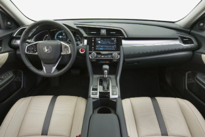 2016 Honda Civic interior seating and features