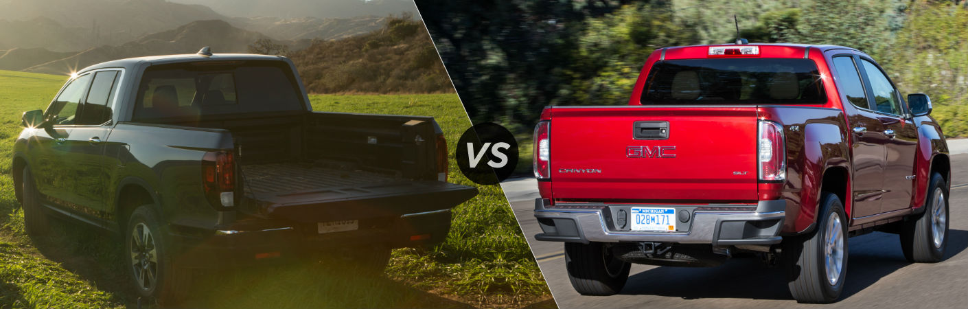 2017 Honda Ridgeline vs 2016 GMC Canyon