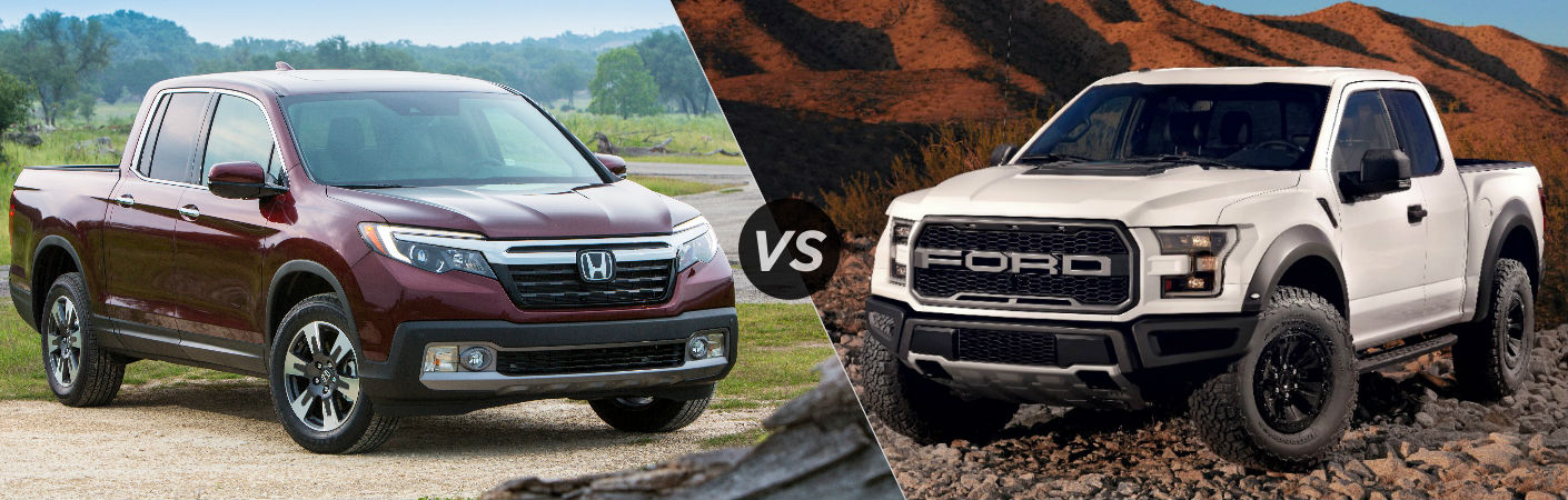 2017 Honda Ridgeline vs 2017 Ford F-150 Raptor