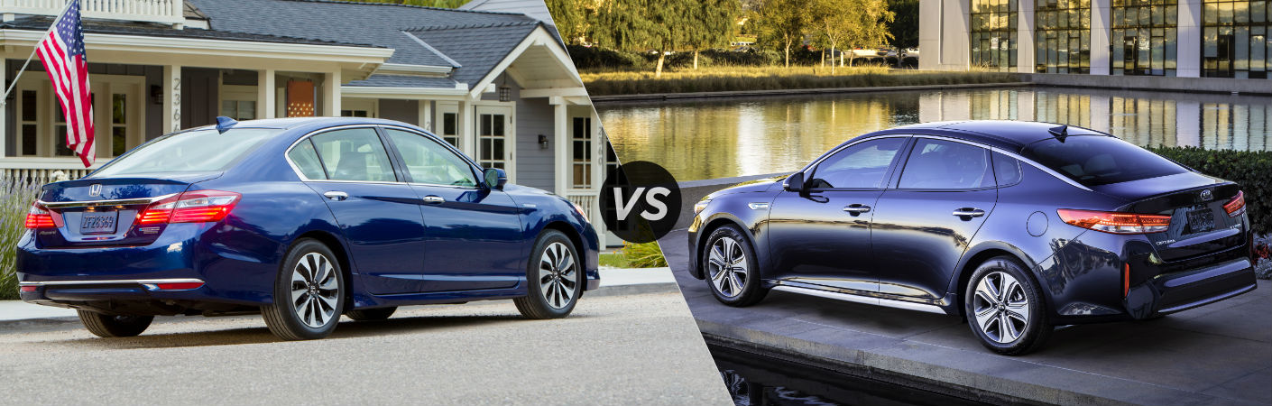 2017 Honda Accord Hybrid vs 2017 Kia Optima Hybrid