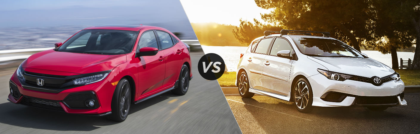 2017 Honda Civic Hatchback vs 2017 Toyota Corolla iM