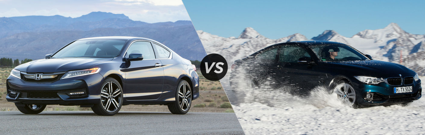 2017 Honda Accord Coupe vs 2017 BMW 4 Series Coupe